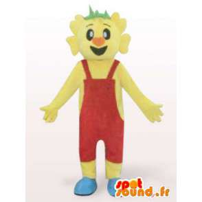 Costume man in overalls red - Costume character - MASFR00939 - Human mascots