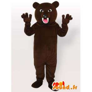Costume ferocious bear - bear costume with big teeth - MASFR001093 - Bear mascot
