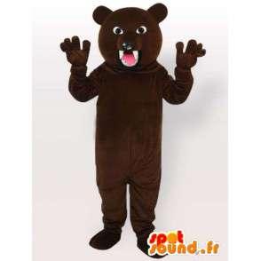 Hurja karhu puku - bear puku iso hampaat - MASFR001093 - Bear Mascot