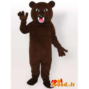 Costume d'ours féroce - Déguisement d'ours à grandes dents - MASFR001093 - Mascotte d'ours