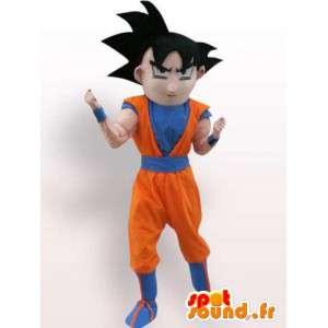 Drakten hans Goku fra Dragon Ball - høy kvalitet drakt - MASFR001076 - dragon maskot