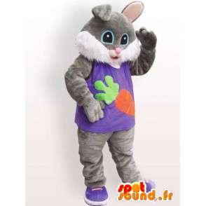 Costume de chat en fourrure - Déguisement de chat habillé - MASFR001100 - Mascottes de chat