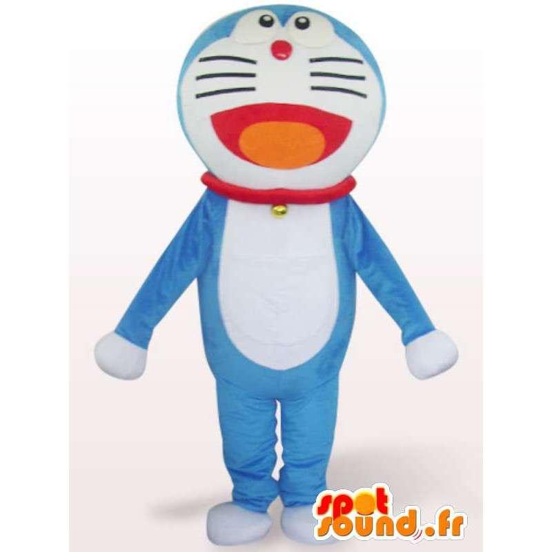 キャットスーツ大きな青い頭 - 青猫の衣装 - MASFR001080 - 猫マスコット
