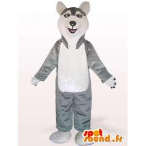 Costume de chien Husky - Déguisement de chien en peluche