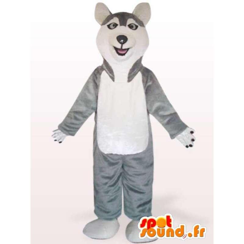 Costume de chien Husky - Déguisement de chien en peluche - MASFR00975 - Mascottes de chien