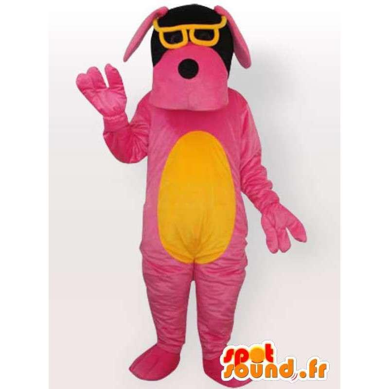 Pes kostým s sluneční brýle - růžový kostým - MASFR001067 - psí Maskoti