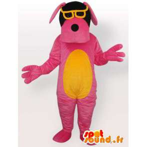 Dog costume with sunglasses - pink costume - MASFR001067 - Dog mascots