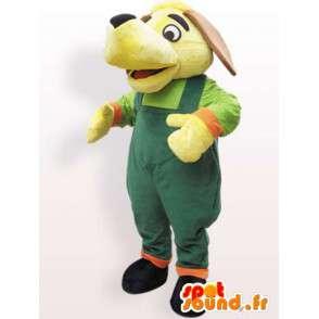 Costume de chien avec salopette - Déguisement toutes tailles - MASFR001092 - Mascottes de chien