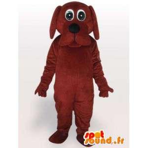 Cão terno olhos - recheado fantasia de cachorro - MASFR001089 - Mascotes cão