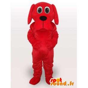 κόκκινο κοστούμι σκυλί με ένα μεγάλο στόμα - Κοστούμια Σκύλος - MASFR00943 - Μασκότ Dog