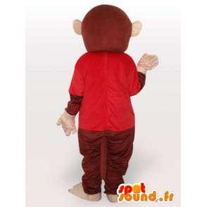 Costume de chimpanzé habillé - Déguisement de singe - MASFR001071 - Mascottes Singe