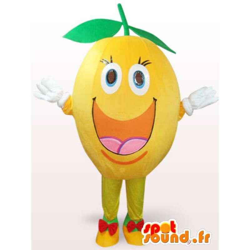 Traje feliz Limón - Limón traje todos los tamaños - MASFR001109 - Mascota de la fruta