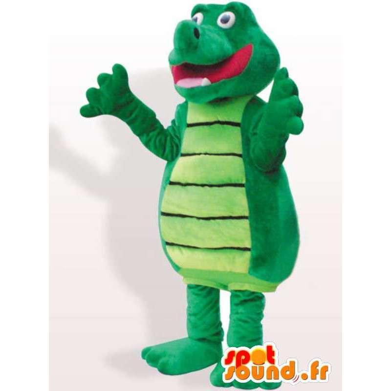 Rigoleur Krokodilkostüm - Plüsch-Krokodil Kostüm - MASFR00933 - Maskottchen der Krokodile