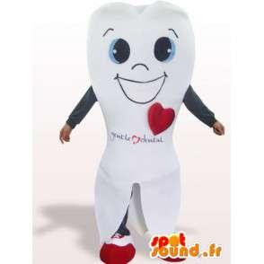 Tann kostyme ler - Tooth Disguise alle størrelser - MASFR00952 - Ikke-klassifiserte Mascots