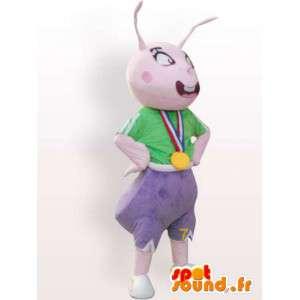 Terno de esportes formiga - traje de formiga com acessórios - MASFR001090 - Ant Mascotes