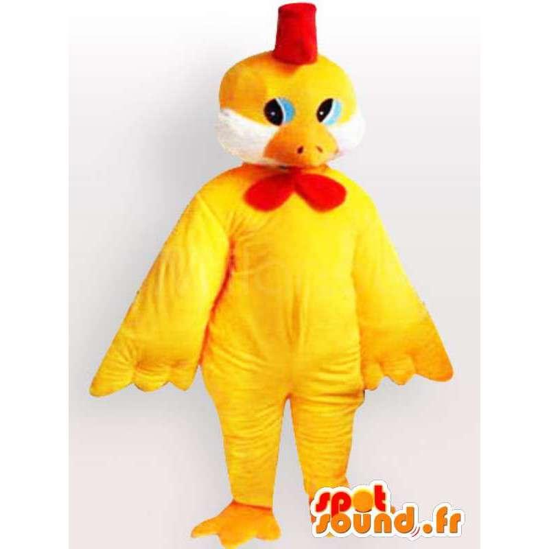 Chica de vestuario con el arco rojo grande - chick Disguise - MASFR001079 - Mascota de gallinas pollo gallo