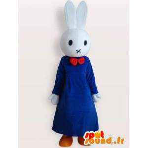 Bunny pak met blauwe jurk - gekleed konijnkostuum