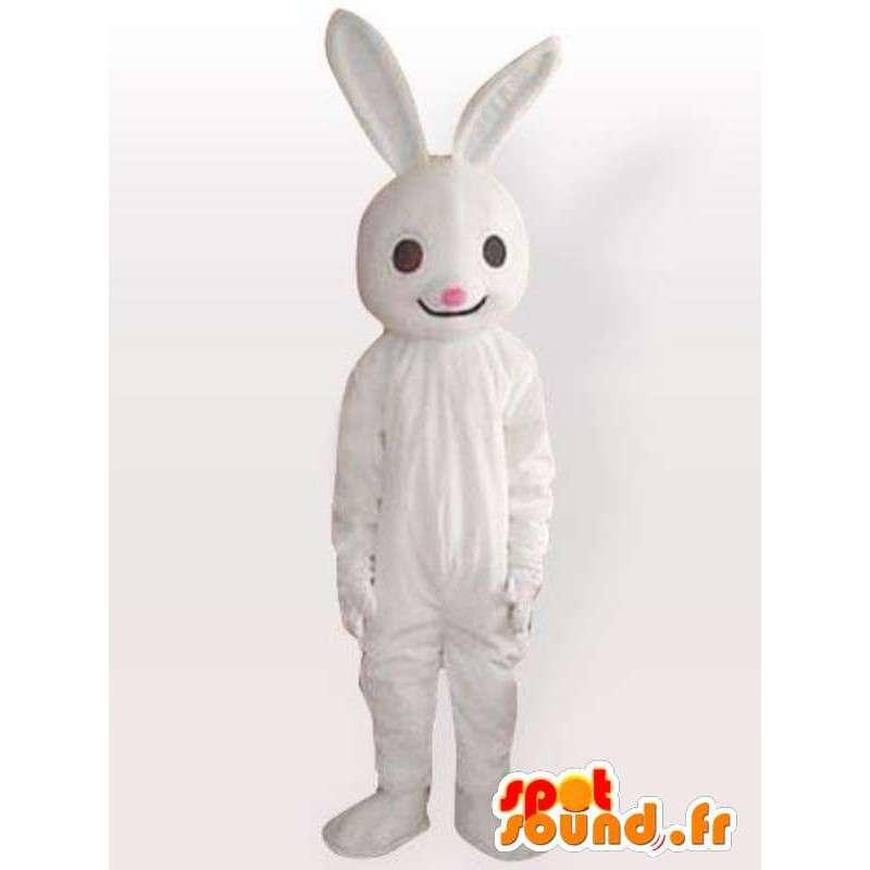 Costume de lapin blanc - Déguisement lapin livré rapidement - MASFR00957 - Mascotte de lapins