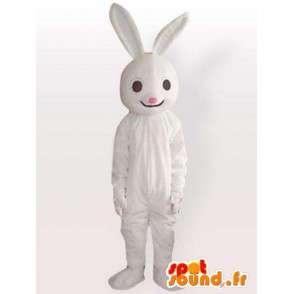 Costume Coniglio Bianco - costume da coniglio viene rapidamente - MASFR00957 - Mascotte coniglio