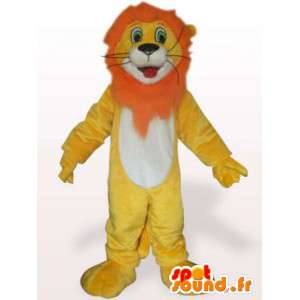 Costume de lion à crinière orange - Déguisement lion