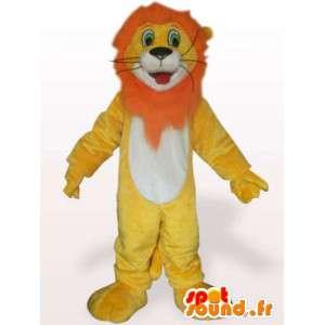 Lejondräkt med orange man - Lejondräkt - Spotsound maskot