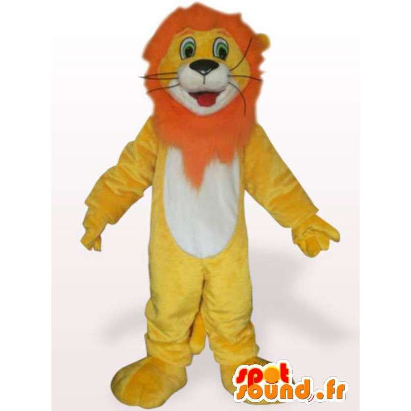 Costume de lion à crinière orange - Déguisement lion - MASFR001104 - Mascottes Lion
