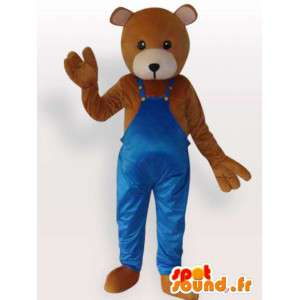 Údržbář Teddy Kostým - oblečená medvídek kostým