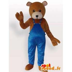 Traje urso de peluche vestido - traje Teddy faz-tudo