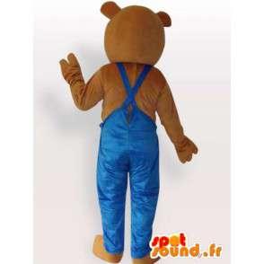 便利屋テディコスチューム - 服を着テディベアの着ぐるみ - MASFR00948 - ベアマスコット