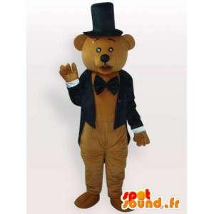 Geklede teddybeer kostuum - kostuum met toebehoren