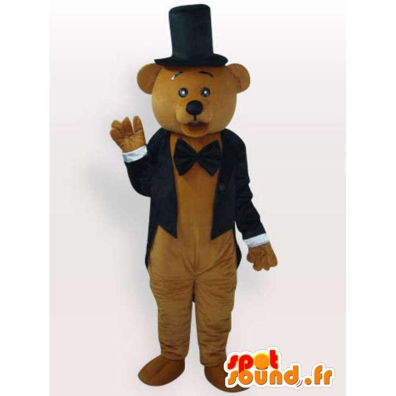 Teddy Kostüm gekleidet - Verkleidung mit Zubehör - MASFR00944 - Bär Maskottchen