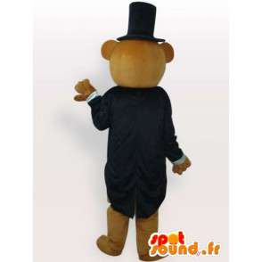 Costume dressed teddy - Disguise with accessories - MASFR00944 - Bear mascot