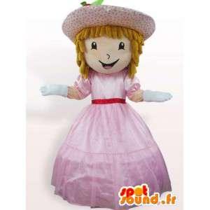 Prinsesse kostyme med kjole - drakt med tilbehør