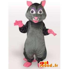 Ekkel rotte drakt - drakt med stor hale rosa - MASFR00964 - Maskoter Dyr