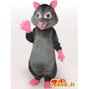 Smerige rat kostuum - kostuum met grote staart roze - MASFR00964 - mascottes Huisdieren