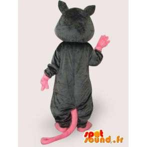 Wicked Ratte Kostüm - Kostüm mit großen rosa Schwanz - MASFR00964 - Haustiere Haustiere