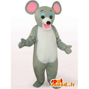 κοστούμι ποντίκι με μεγάλα αυτιά - φορεσιά του ποντικιού - MASFR00937 - ποντίκι μασκότ