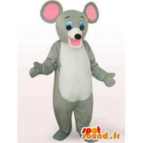 Traje de ratón con grandes orejas - Disfraz de ratón - MASFR00937 - Mascota del ratón