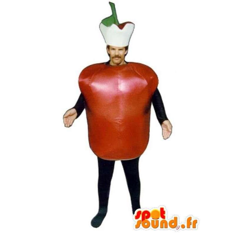 Tomate traje - traje de tomate, con accesorios - MASFR001107 - Mascota de la fruta