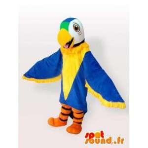Papegøje kostume med store vinger - Blå papegøje kostume -