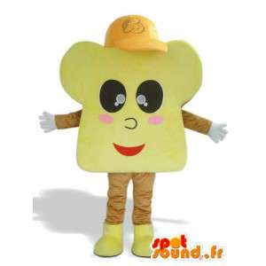 Brioche maskot med hætte - Brioche kostume - Spotsound maskot