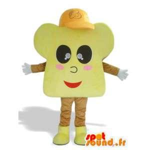 Brioche maskot med keps - Brioche kostym - Spotsound maskot