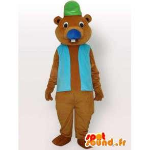 Accessori mascotte Beaver - travestimento animale marrone - MASFR001155 - Castori mascotte