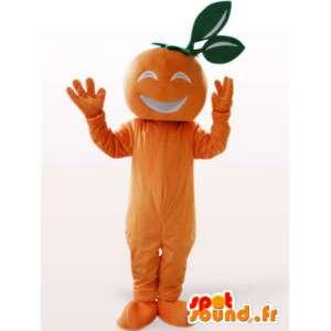 Mascot abrikoos - de oranje vruchten kostuum