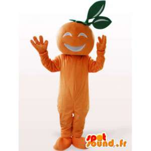 Mascot apricot - orange fruit costume