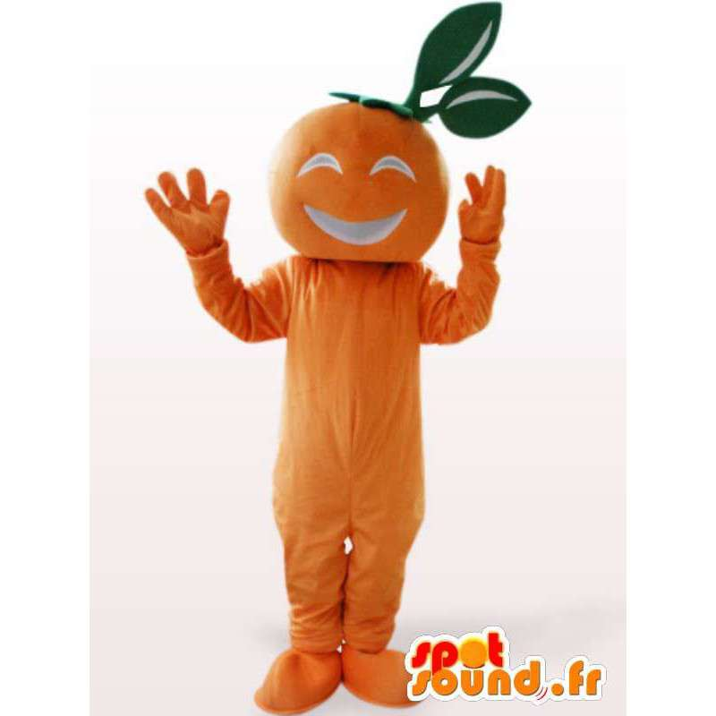Mascotte d'abricot - Déguisement du fruit couleur orange - MASFR00947 - Mascotte de fruits