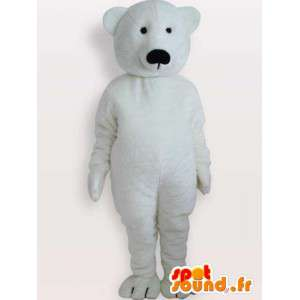 Urso Polar Mascote - Disguise animal preto grande
