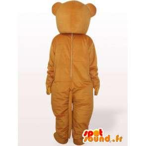 Teddybeer mascotte met rode vlinderdas - berenkostuum - MASFR00965 - Bear Mascot