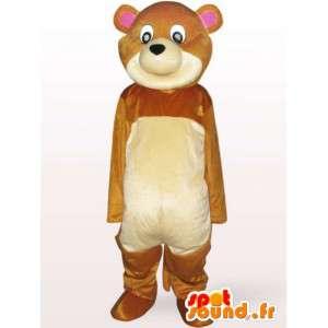 Mascotte d'ourson en peluche - Déguisement ourson livré rapidement