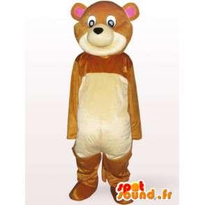 Mascotte d'ourson en peluche - Déguisement ourson livré rapidement - MASFR001128 - Mascotte d'ours
